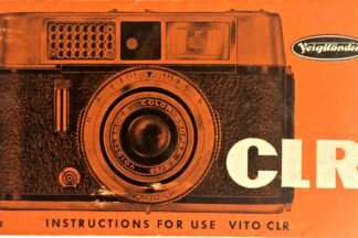 Voigtlander Vito CLR Instructions for use