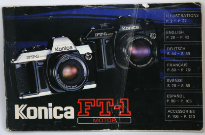Konica FT-1 Motor User Manual