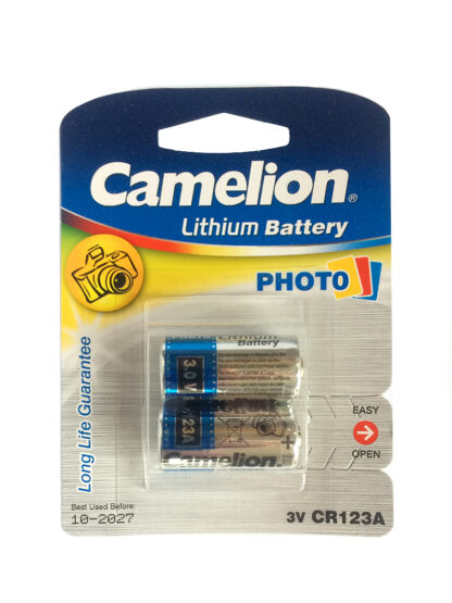 Camelion CR123A 3v lithium camera batteries