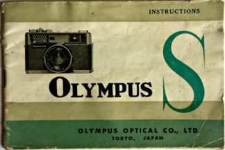Olympus S Instructions