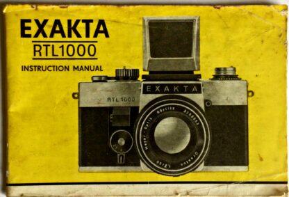 Exakta RTL1000 Instruction Manual