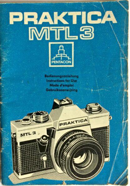 Praktica MTL3 Instructions for use