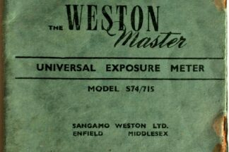 Weston Master Light Meter Instructions