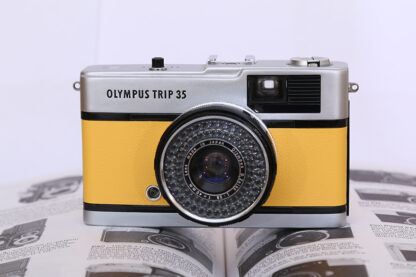 Milly Cameras camera recovering leather skins olympus trip yellow