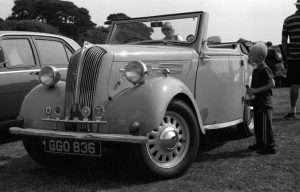 Vintage car convertible black and white photograph taken with Ashi Pentax Spotmatic SP with Carl Zeiss Pancola 50mm 1:8 lens