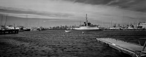 The third Black and White sample photograph from the Fac mark II panoramic film camera. Made by Lee Lira.